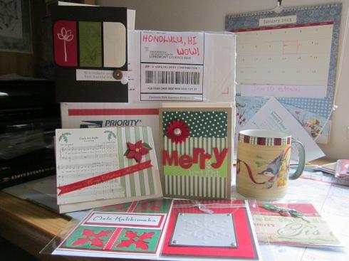 Lori sends cards from Honolulu.