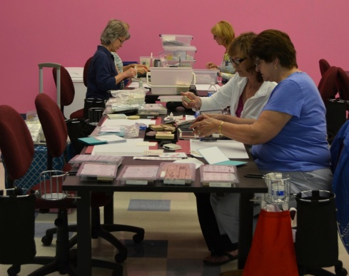 """Here are photos from the first """"PGT Make and Donate"""" event at The Scrapbook Shack to the most recent one but, several meeting weren't photographed because we're just too darn busy!"""