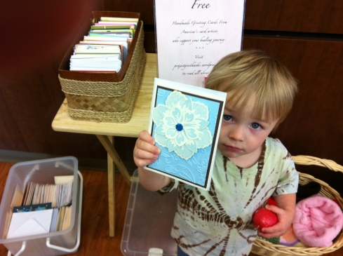 Three years ago, this was my grandson Bodhi, helping me deliver PGT cards.