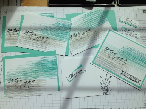 """just one of our card styles make from Stampin' Up!'s outrageously popular """"Wetlands"""" stamp set"""