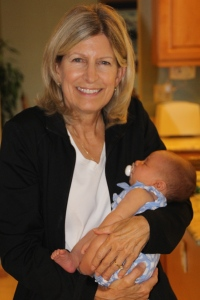 Cathy Douglas and her youngest grandchild.